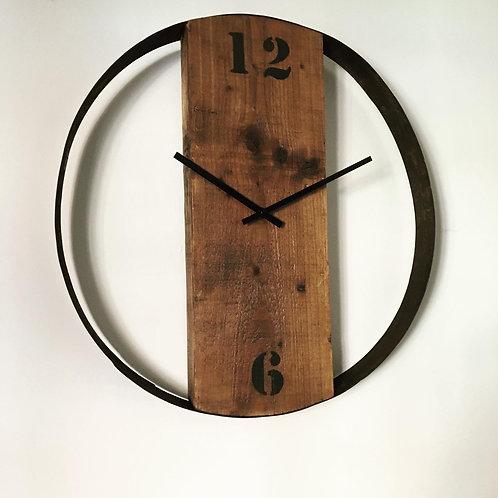 Whiskey barrel ring clock