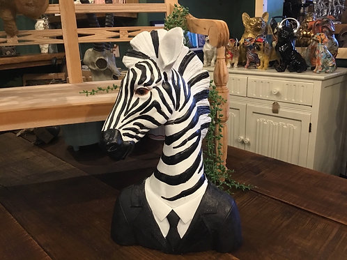 Zebra in suit 15in (best seller)