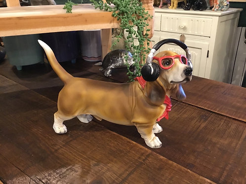 Dashhound with headphones 12in Long