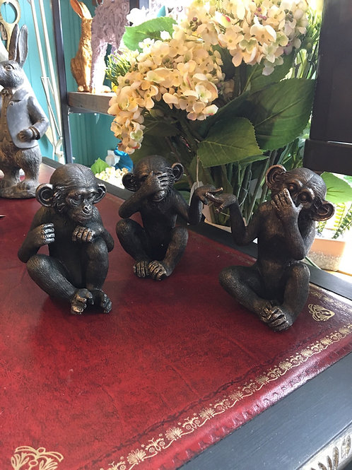 Monkeys see, hear and speak no evil (set)