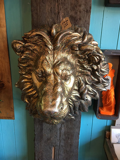 Lion head in antique gold