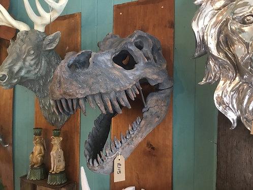 Giant tyrannosaur head