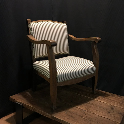 """Fireside Chair """"Annie Sloan olive ticking"""""""