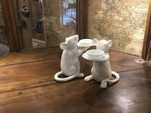 Pair rat tealight holders
