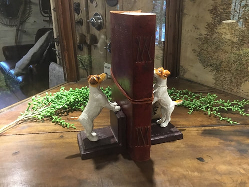 Dog bookends (cast iron)