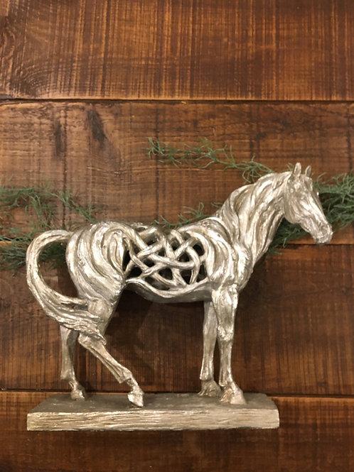 Horse silver frame