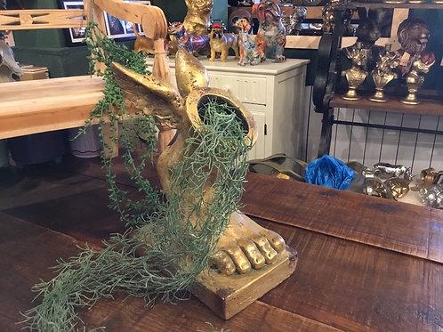Hermes Gold planter 14in