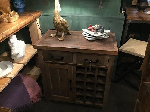 Wine rack cupboard side unit