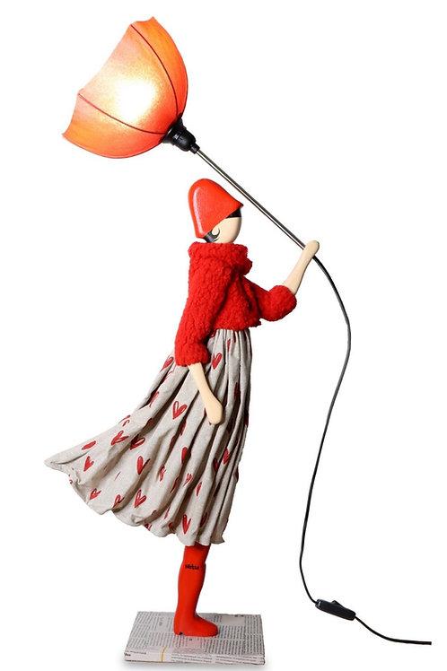 Lamp Scarlet in the wind