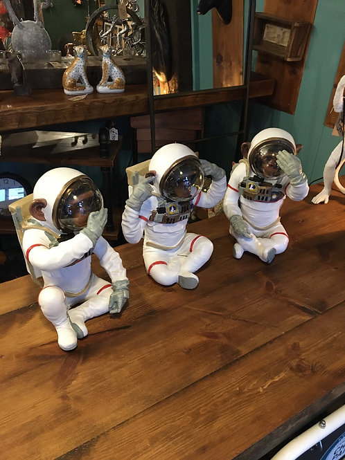 LG see hear speak no evil monkey astronaut individually priced