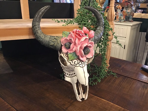 Rams skull with flowers (top seller)