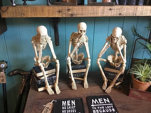 See, hear, speak no evil skeletons