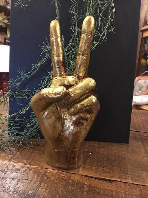 Peace vase gold
