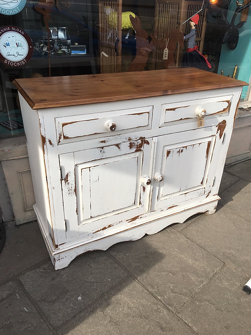 Pine sideboard in Annie Sloan old white
