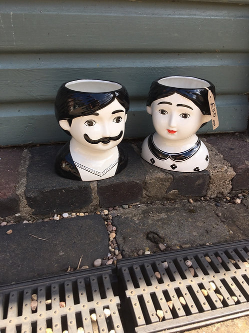 Pair of mr and mrs planter