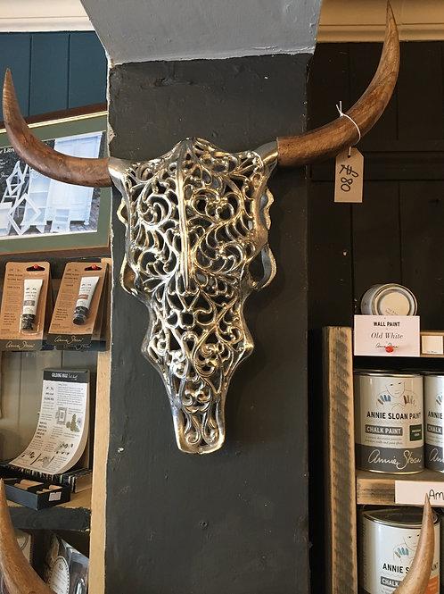 Brass or silver steer skulls