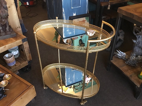 Drinks trolley with mirrors