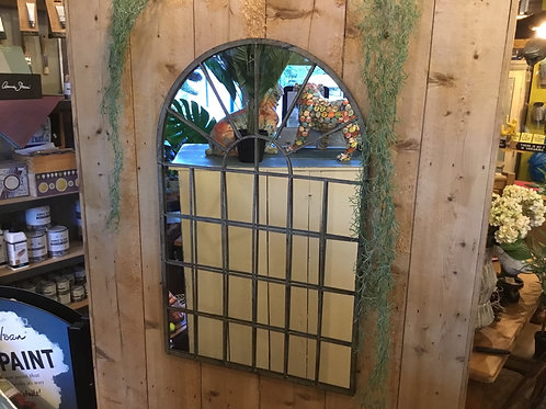 Metal arch mirror