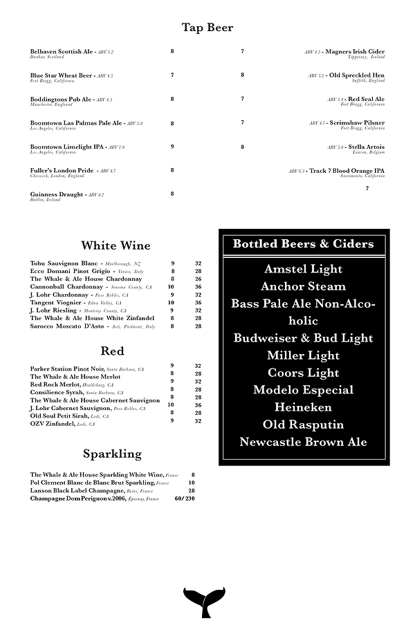 Whale and Ale Menu_first draft-2 (dragge