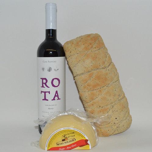 Combo Pão&Queijo&Vinho - Meia Cura
