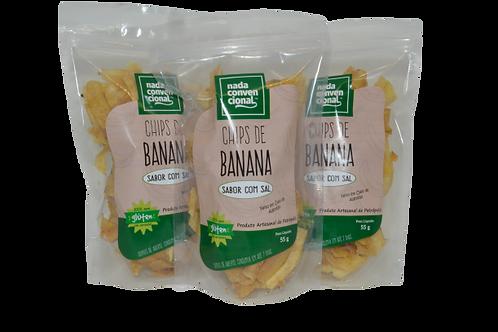 3 Chips de Banana com Sal
