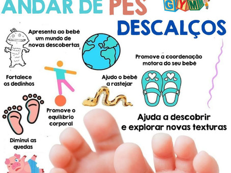 Benefícios de andar de pés descalços