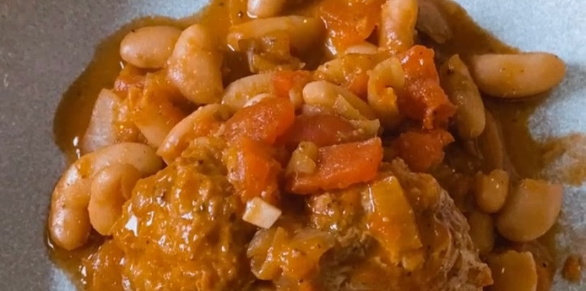 Turkey Meatballs in a White Bean Sauce