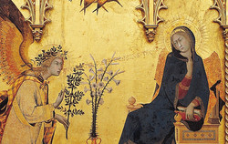 Annunciation by Simone Martini and Lippo