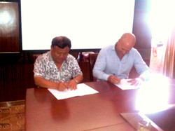 Signing for Agriculture Project