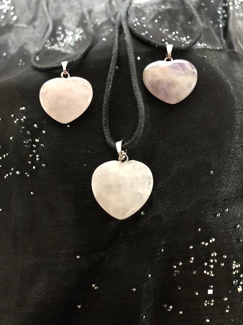 Rose Quartz & Amethyst Heart shaped Crystals