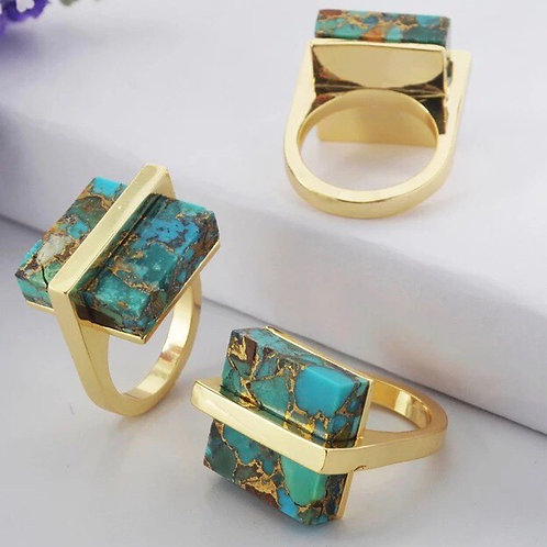 18k Gold plated Turquoise ring