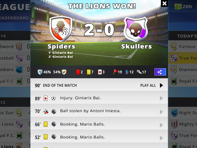 Check detailed Match Reports!