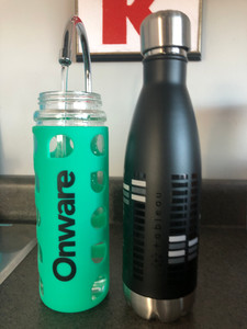 Using reusable bottles at Onware with Onware and Tableau bottles