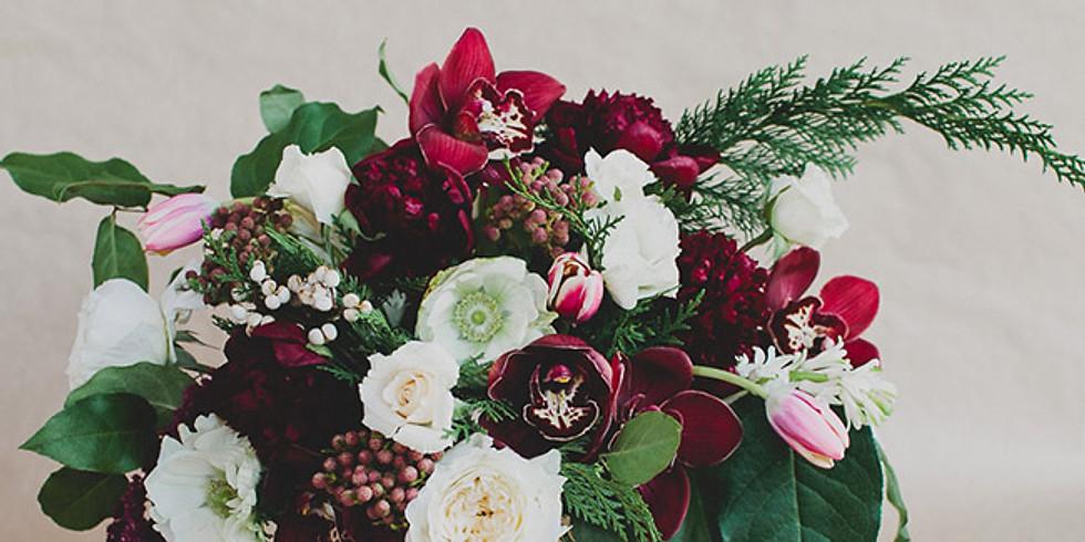 Winter Floral Centerpiece Class with Flowerly Art