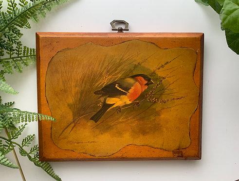 Basil Ede, Bird Image on Wood Plaque