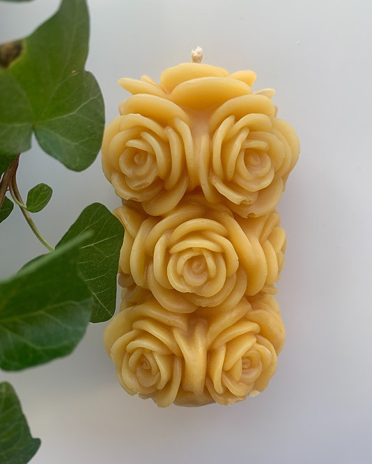 Rose, 100% Beeswax Candle