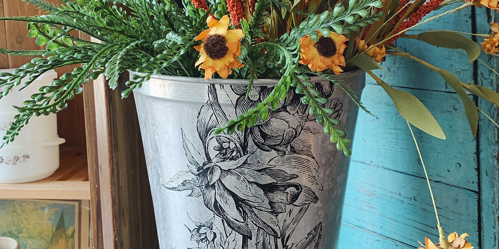 Decorate Authentic Maple Sap Bucket