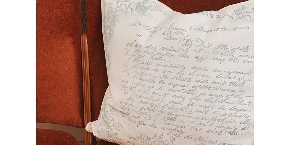 DIY   Stamped Pillow