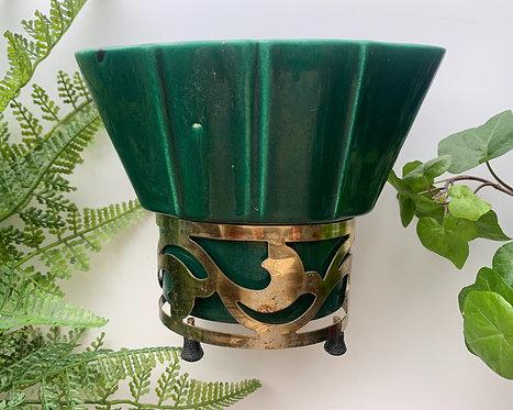 Emerald Green & Gold Planter