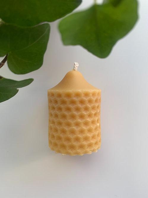 Sm. Hexagon, 100% Beeswax Candle