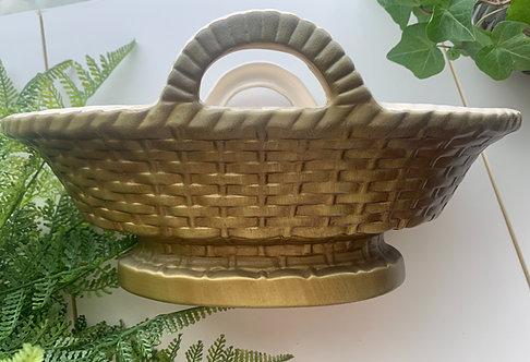Haeger Planter, Wicker Basket