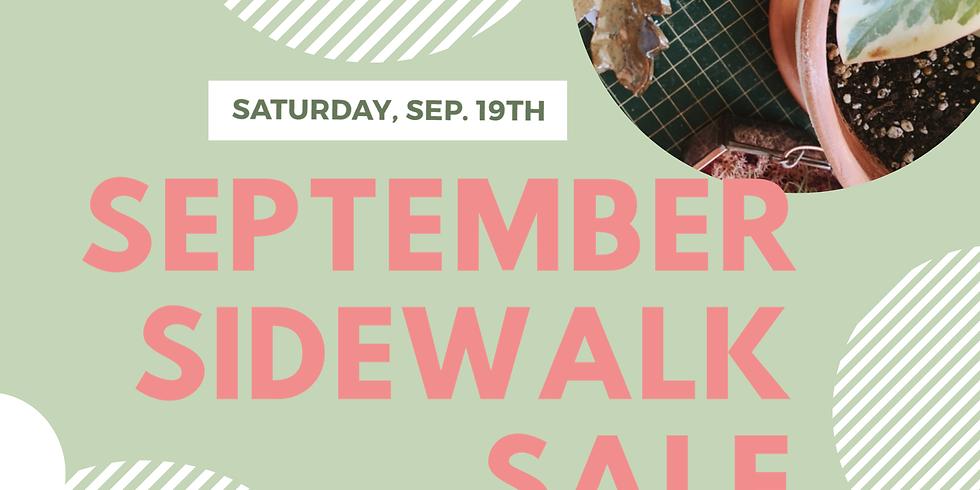 September Sidewalk Sale