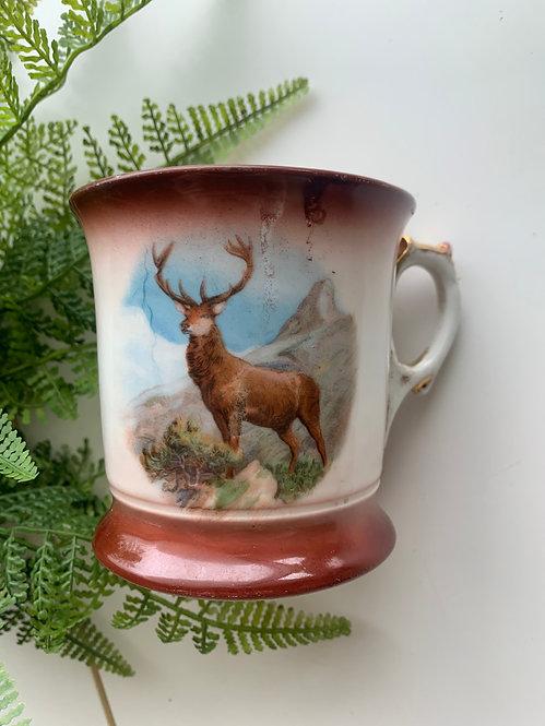 Coffee/Mustache Mug, Elk Design
