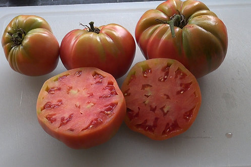 The Russian Rose Tomato originates From Novorossiyk, Russia, This Russian heirloom tomato variety is appropriately named as i