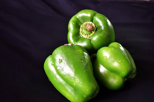 Here is the California Wonder Bell Pepper, Capsicum annuum, Scoville units: 000 SHU. This standard bell pepper has been used