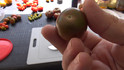 The Black Cherry Tomato, Solanum lycopersicum is a hard variety to find with it's rich flavor. Created by Vince Sapp in Florida, who passed in 2006. This little round tomato, 15-20 gm, is almost dark brown in color but more of a mahogany deep red. The flavor is dynamic - much like an heirloom. This is a high yielding Indeterminate tomato, 65 days.