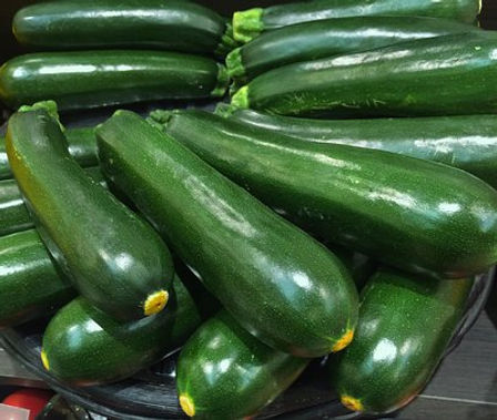 Here is the Dark Green Zucchini, Cucurbita pepo. This is a classic type of zucchini and a very good producer. As you can see in the video they can get absolutely enormous. This bush early type zucchini can make very large plants and need a lot of room to grow. We found them to produce as many as a dozen fruits on one plant! It is best to pick them at about 8 inches long for fresh eating or you can let them grow full length and are great for frying and soups. The seeds can be eaten as well and roasted just like pumpkin seeds. Open pollinated 40 to 80 days.