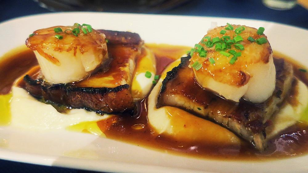 pork belly scallops