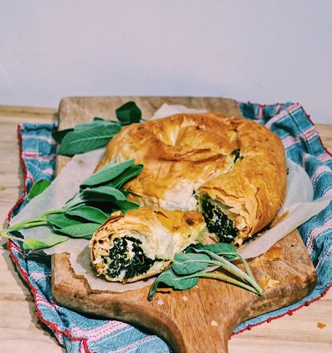 Turkish börek with cavolo nero, spinach and feta