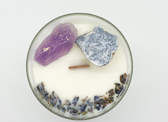 Calm & Balance Crystal Ritual Candle by Moonstone Trading Co. - 9 oz